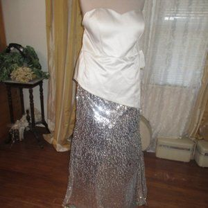 NWT Tuxedo Style Sequin Formal Dress Dress 20W